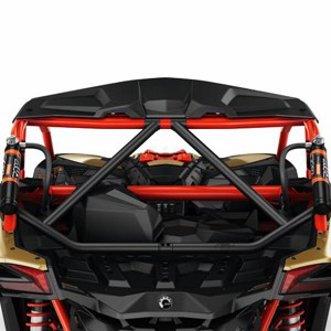 Black and Red Can Am Perth Maverick X3 Lonestar Racing Rear Intrusion Bar Black