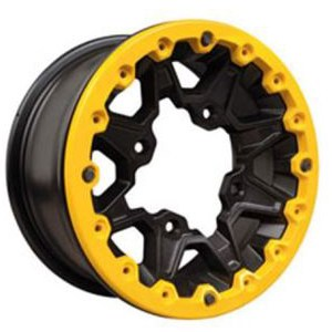 ATV Can Am Yellow and Black Maverick X RS Rim Front