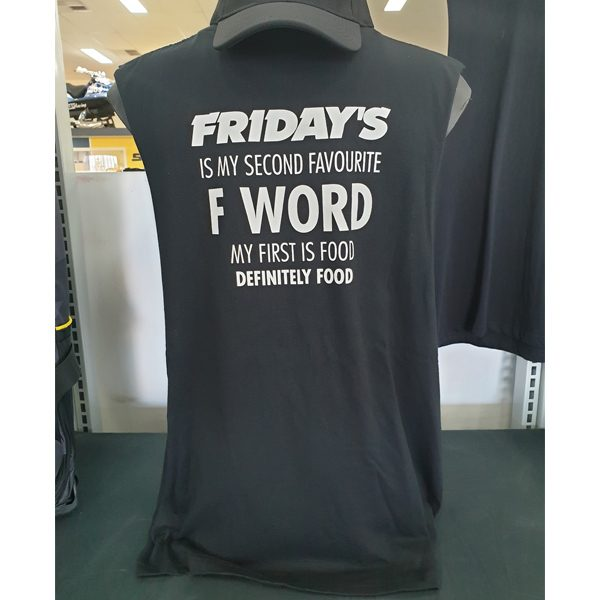 Fridays F Word Muscle Tee No Sleeves