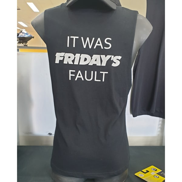 Fridays Fault Muscle Tee Sea Doo Prices Buy Jet Ski Accessories