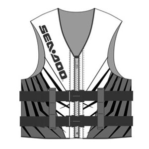 Sea Doo Parts White Splash FT Life Vest