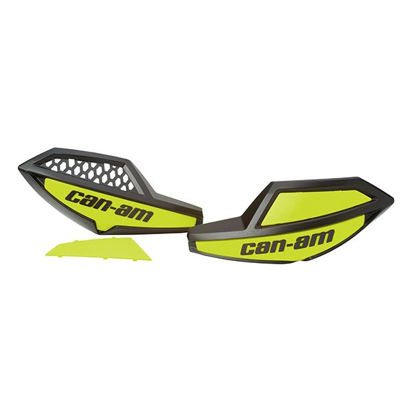 Can Am Parts Handlebar Wind Deflectors - Black/Yellow