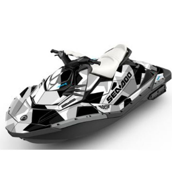 Silver Seadoo Jet Ski For Sale Spark Attitude Graphics Kit Covert