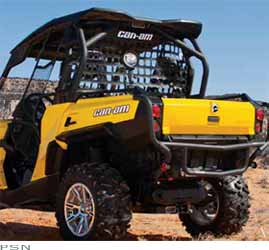 Quad Bikes For Sale Can-Am Black and Yellow Rear Window Net At Dirt Road