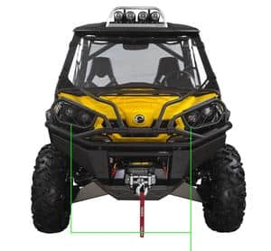 Can Am Parts Dealers Black and Yellow Can-Am Front Light Protection