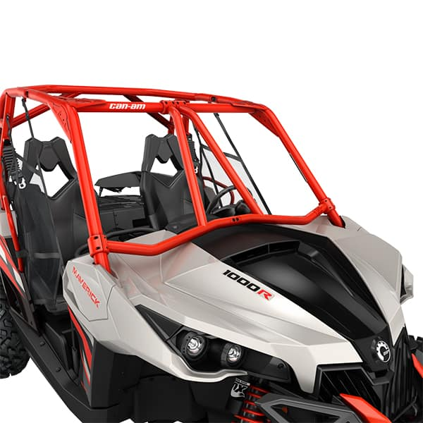 Can AM Parts Lonestar racing front intruson bar red