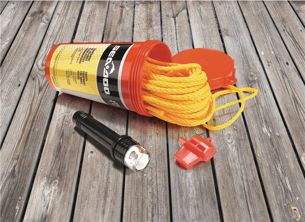 Sea Doo Perth Safety Equipment Kit With Rope, Whistle and Flashlight