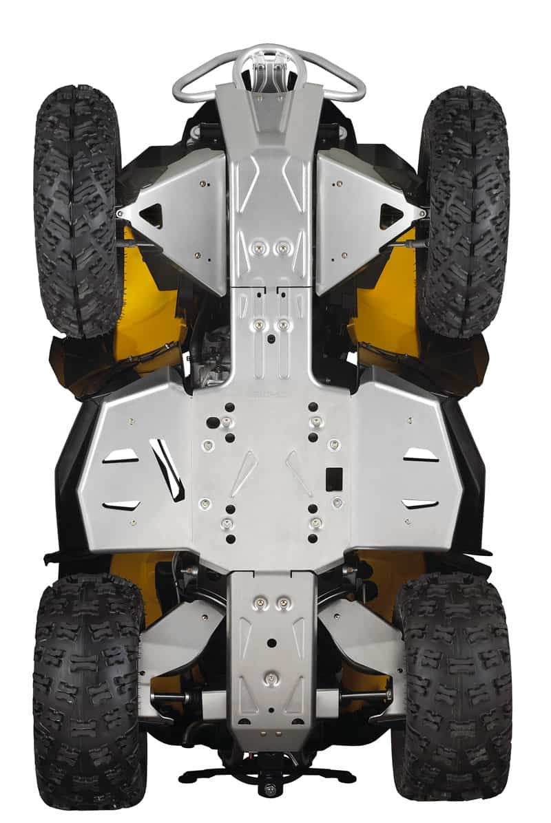 Can Am Parts Atv Perth Dealers Front Aluminium Skid Plate On Black And Yellow Can Am