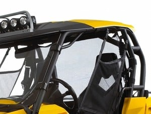 Quad Bikes For Sale Can Am Rear Wind Screen And Wind Deflector Black And Yellow