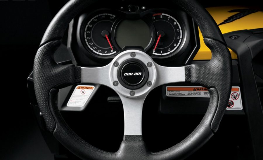 Atv Can Am XT Sport Steering Wheel And Dashboard View