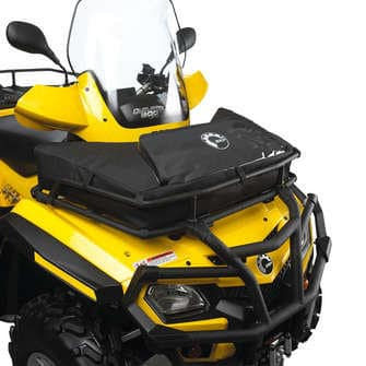 Can Am Parts Front Bag On Black And Yellow Atv Can Am
