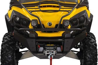 Atv Perth Dealers Black and Yellow Can Am Parts Xtreme Front Bumper