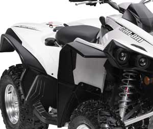 Quads For Sale Perth Black and White Can Am Buggy Mudguard Kit For Renegade